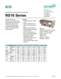 RS16 Product Sheet