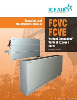 FCU: FCVC/FCVE Vertical – O&M Manual