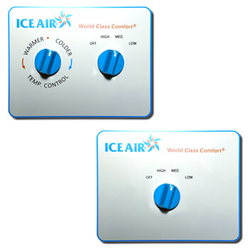 Ice Air - Product - AccuZone Thermostat - Manual Temperature and Fan Speed Dial Thermostat