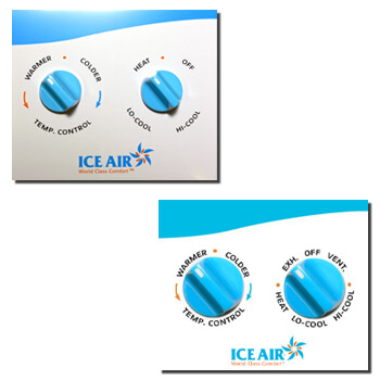 Ice Air - Product - AccuZone Thermostat - Manual Temperature and Mode Dial Thermostat