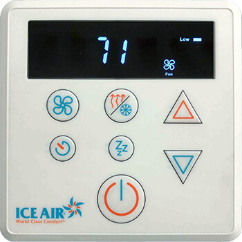 Ice Air - Product - AccuZone Thermostat - Non-Programmable LCD Digital Touch Pad Thermostat