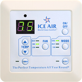 Ice Air - Product - AccuZone Thermostat - Non-Programmable LED Digital Touch Pad Thermostat
