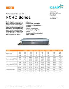 FCHC Product Sheet