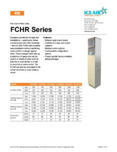 FCHR Product Sheet