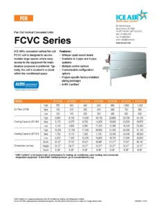 FCVC Product Sheet