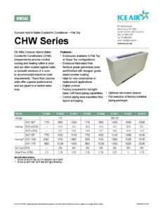 CHW Product Sheet