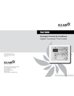 Thermostat: Standard Digital Touchpad - O&M Manual