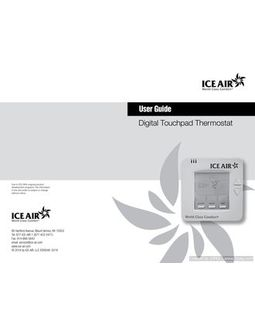 Thermostat: 7-Day Programmable - O&M Manual